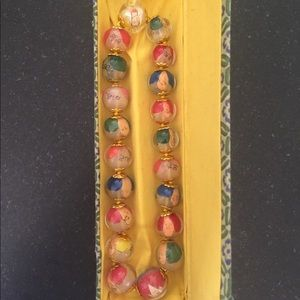 Jewelry - Chinese glass bead necklace in box-new.